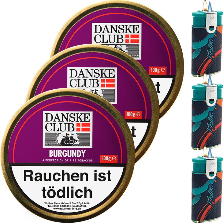 Danske Club Burgundy 3 x 100g