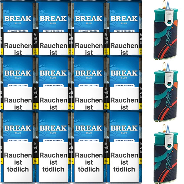 Break Blue / Blau 12 x 115g mit Feuerzeuge