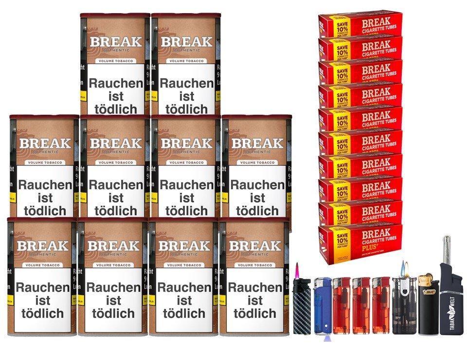 Break Authentic 10 x 75g Volumentabak 2000 Filterhülsen Uvm.