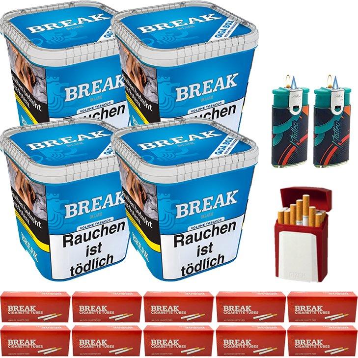 Break Blue / Blau 4 x 230g mit 2000 King Size Hülsen