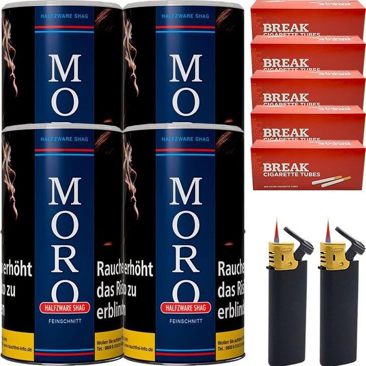 Moro Blau Feinschnittabak 4 x 180g mit 1000 Hülsen