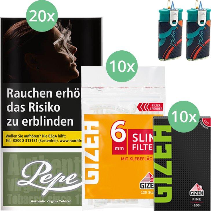 Pepe Rich Green 20 x 30g mit Gizeh Blättchen und Filter
