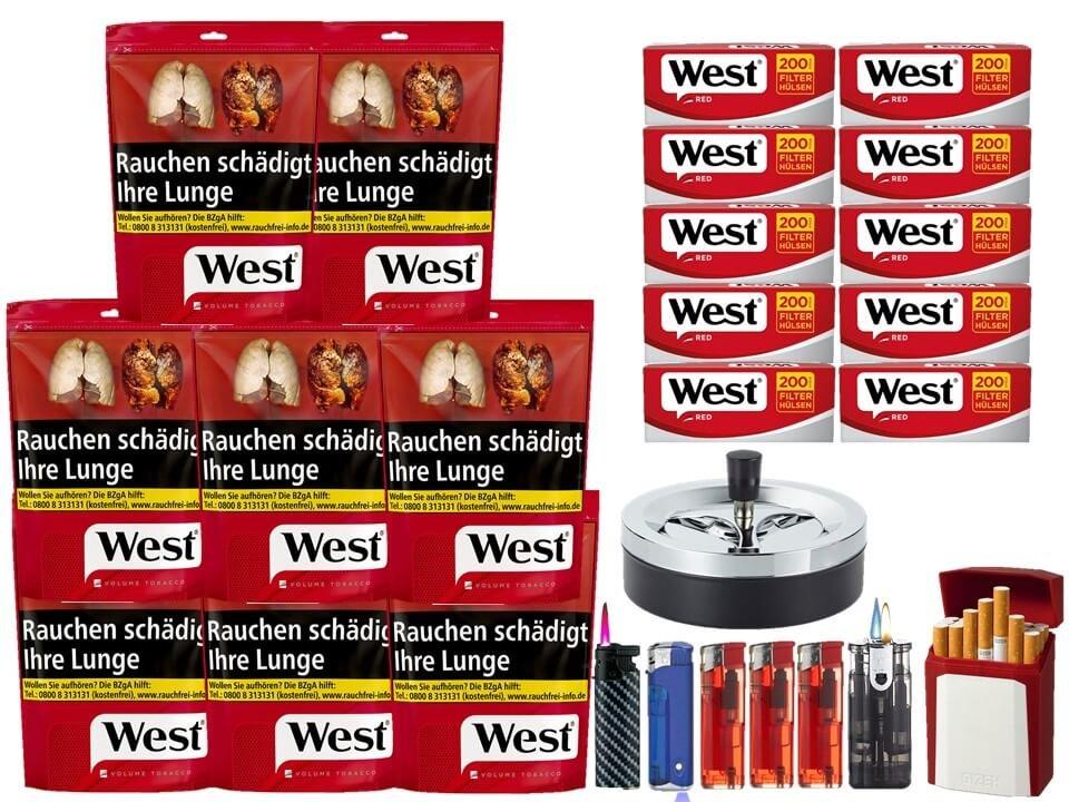 West Red 8 x 134g mit 2000 King Size Hülsen