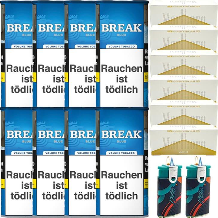 Break Blue / Blau 8 x 115g mit 1200 King Size Hülsen
