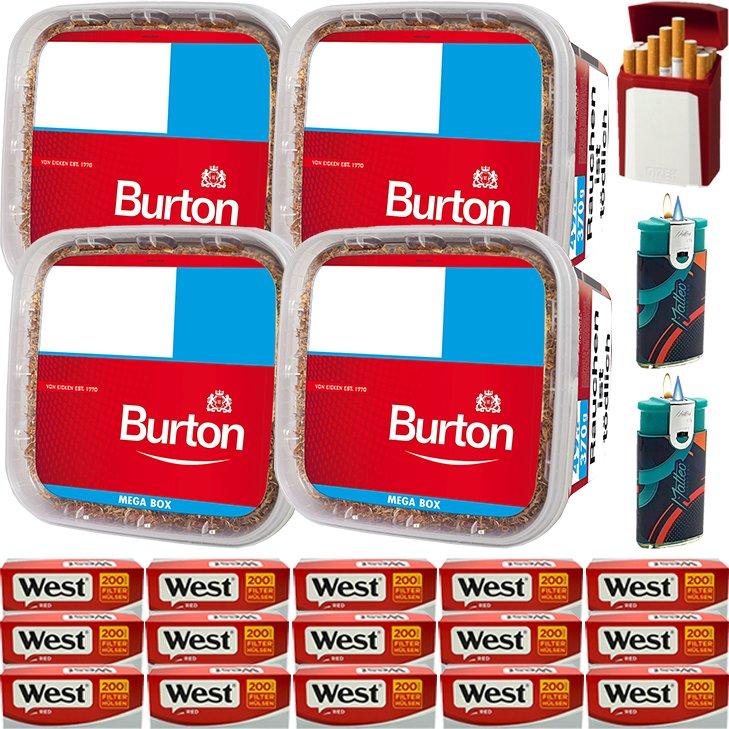 Burton 4 x 350g mit 3000 King Size Hülsen