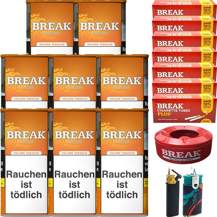 Break Orange 8 x 110g mit 1400 Plus Hülsen