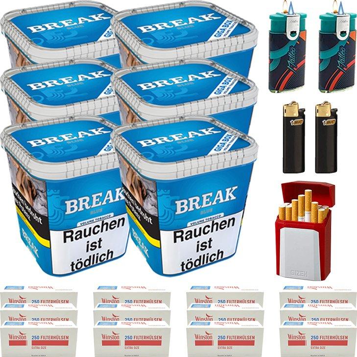 Break Blue 6 x 230g mit 3000 Special Size Hülsen