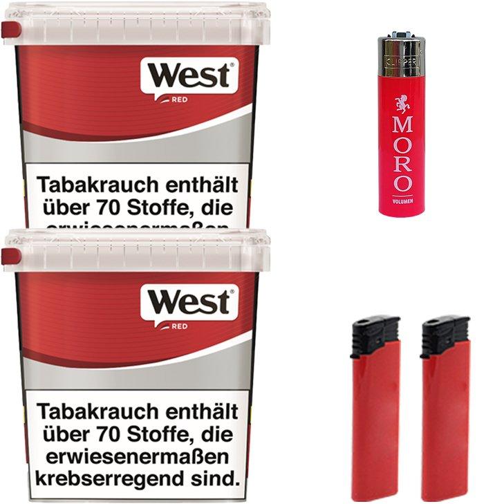 West Red 2 x 260g mit Feuerzeugen