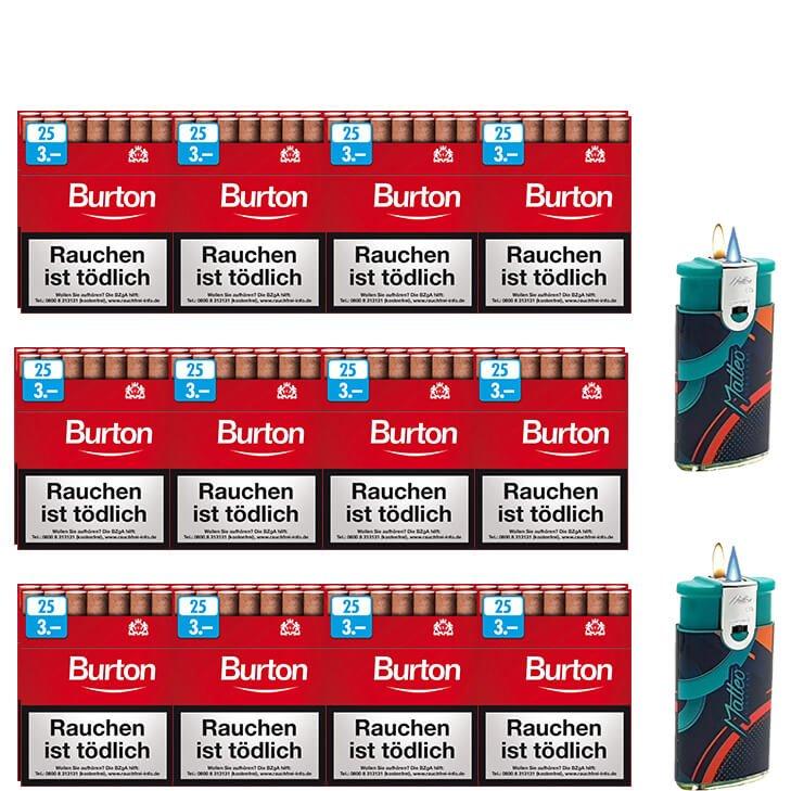 Burton Original Zigarillos mit Filter (3 Stangen) 24 x 25 Stück