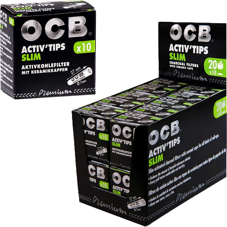 OCB Activ'Tips Slim 7 mm 20 x 10 Stück