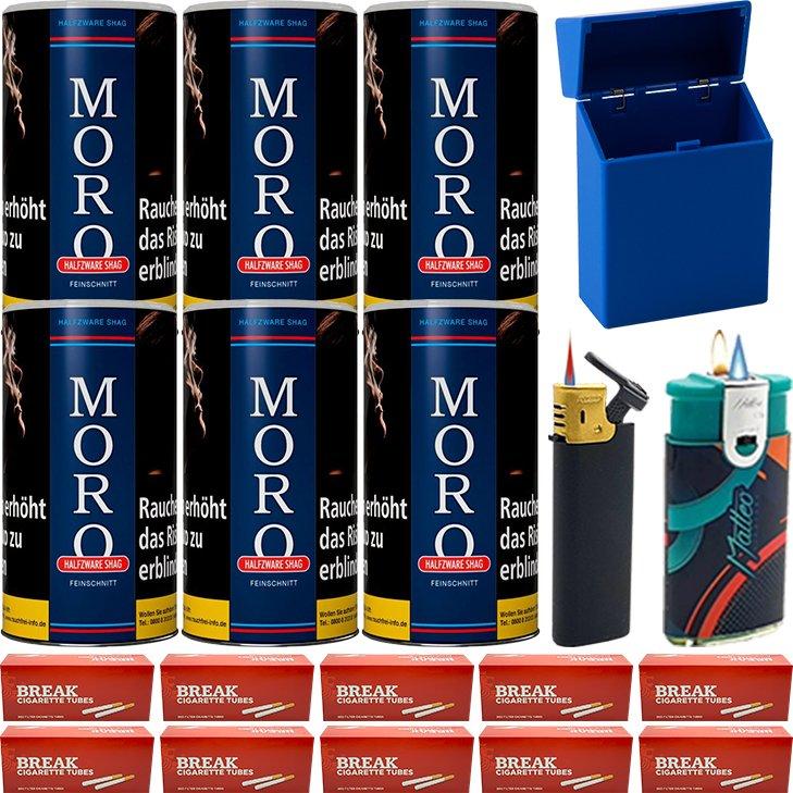 Moro Blau Feinschnittabak 6 x 180g mit 2000 Hülsen
