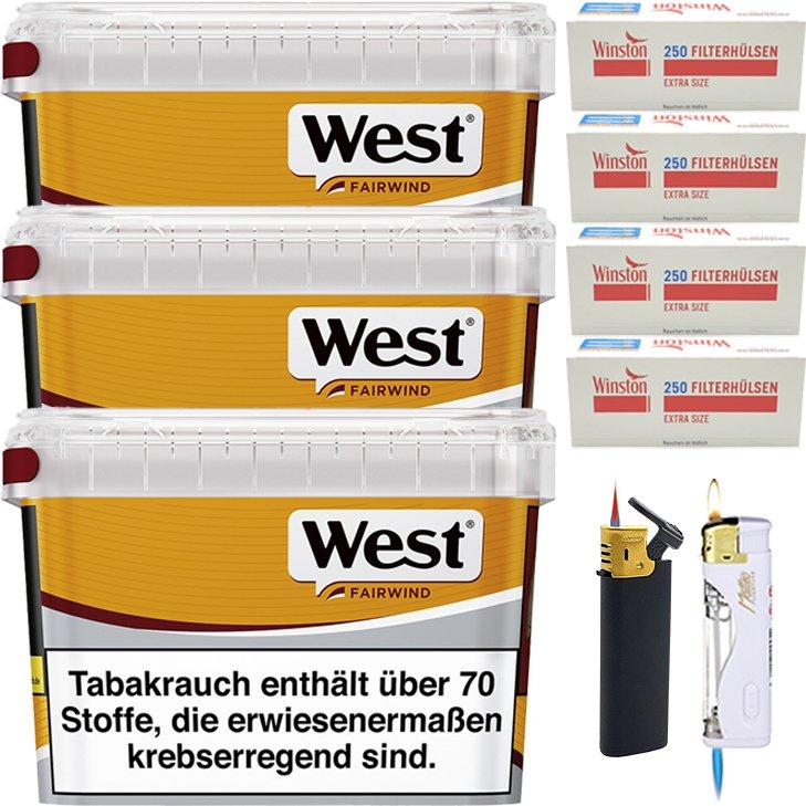 West Yellow Fairwind 3 x 185g mit 1000 Extra Size Hülsen