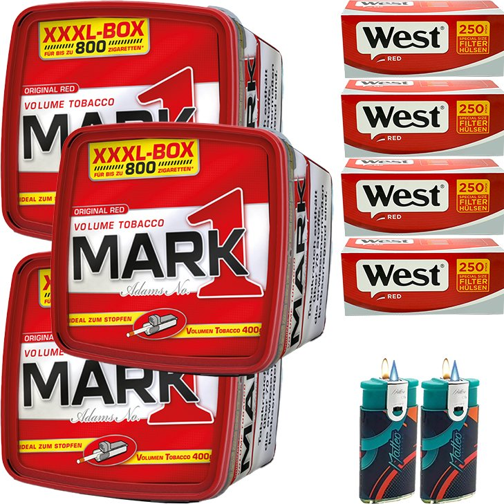 Mark 1 - 3 x 400g mit 1000 Red Special Size Hülsen