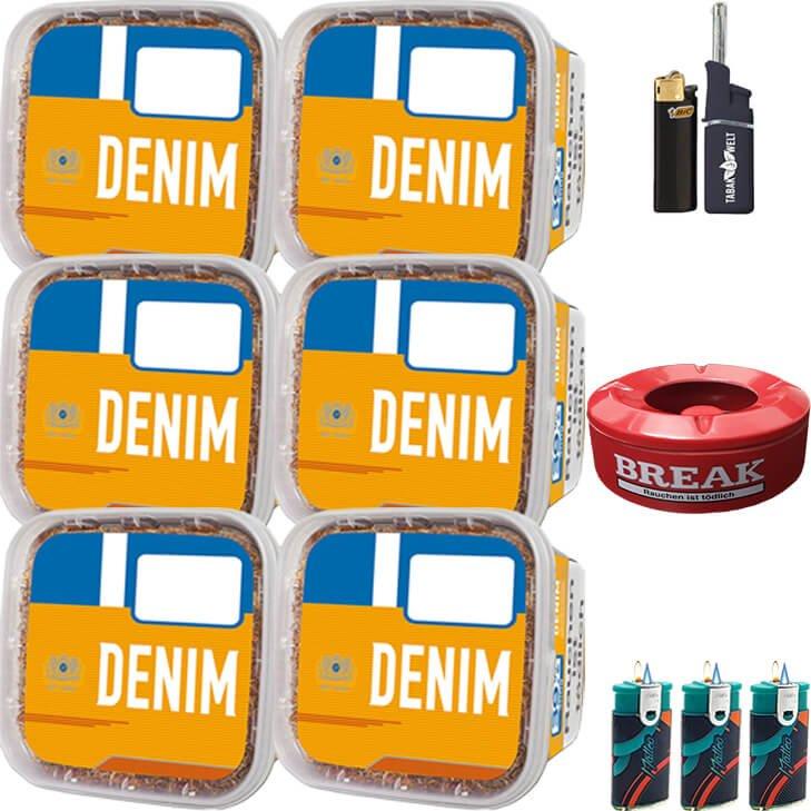 Denim Mega Box 6 x 290g mit Aschenbecher