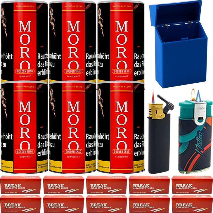 Moro Rot Feinschnittabak 6 x 180g mit 2000 Hülsen