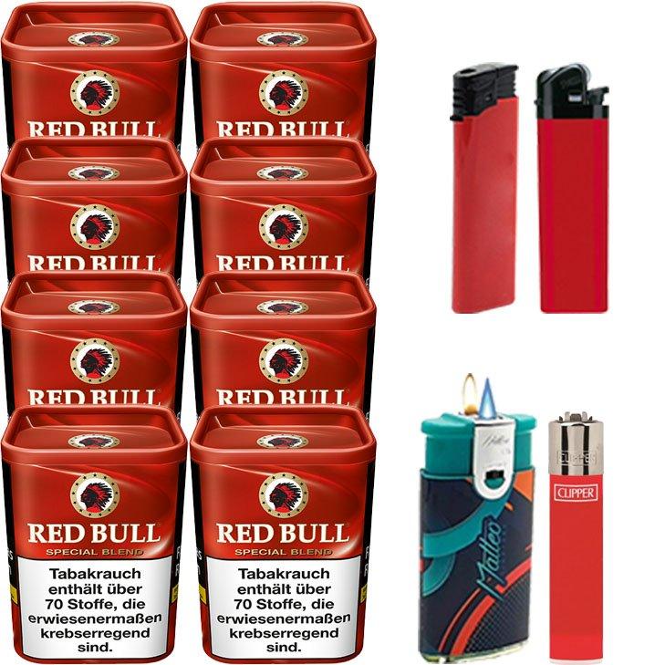 Red Bull Special Blend 8 x 120g mit Feuerzeugen