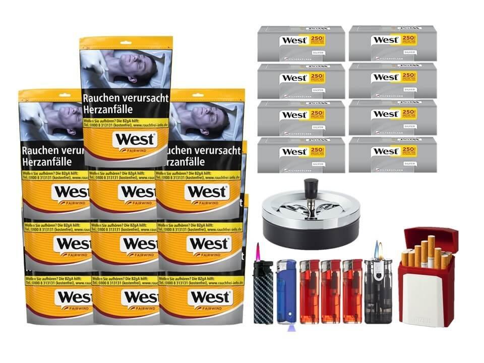 West Yellow Fairwind 10 x 120g mit 2000 West Silver Extra Size Hülsen