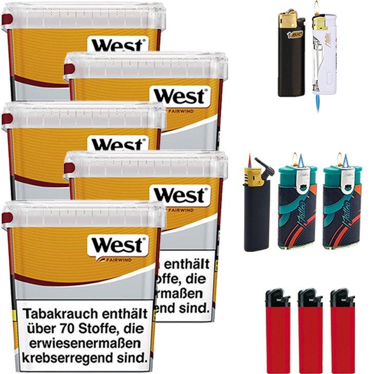 West Yellow Fairwind 5 x 280g mit Feuerzeugen