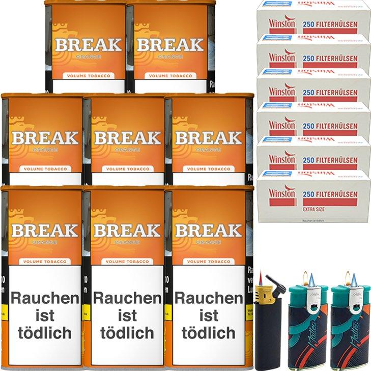 Break Orange 8 x 110g mit 1500 Special Size Hülsen