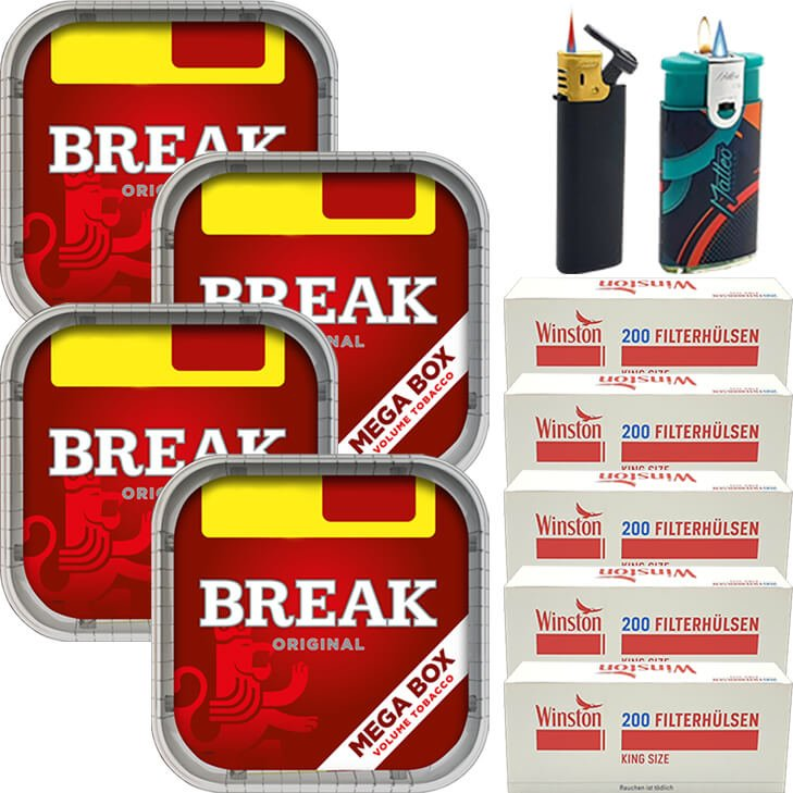 Break Original 4 x 170g mit 1000 King Size Hülsen