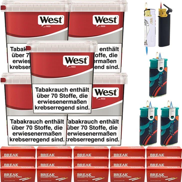 West Red 5 x 260g mit 3000 Hülsen