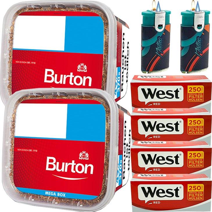 Burton 2 x 350g mit 1000 Special Size Hülsen