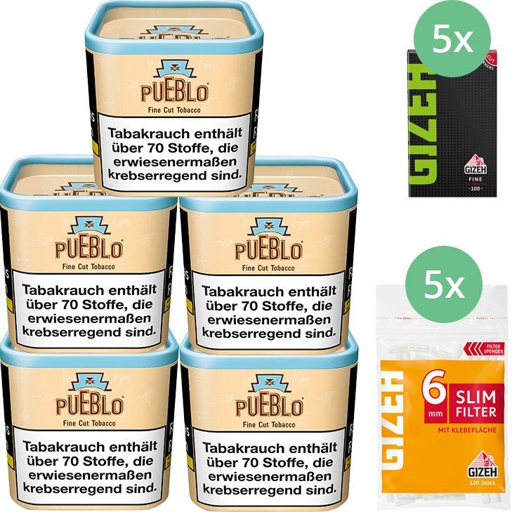 Pueblo Classic 5 x 100g mit Gizeh Blättchen und Filter