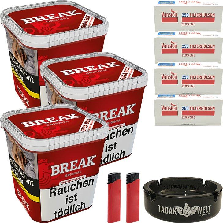 Break Original 3 x 230g mit 1000 Extra Size Hülsen