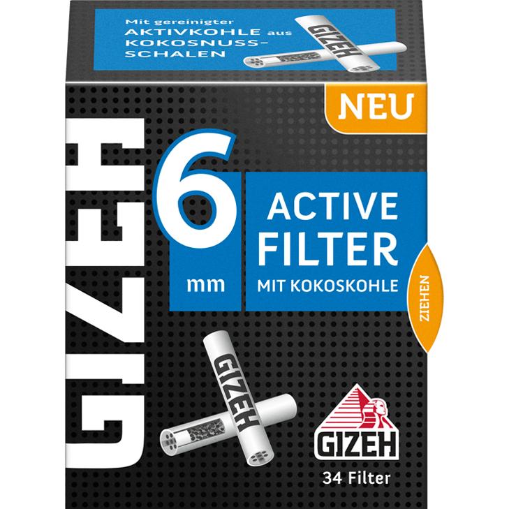 Gizeh Black Active Filter 6 mm 34 Stück