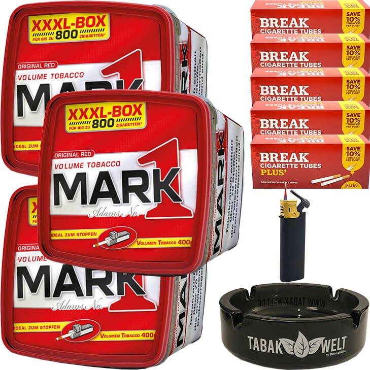 Mark 1 - 3 x 400g mit 1000 Plus Hülsen