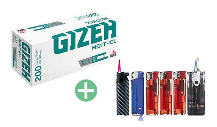 Gizeh Menthol King Size Filterhülsen 25 x 200