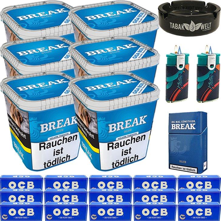 Break Blue 6 x 230g mit 3000 OCB Hülsen