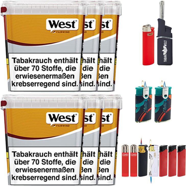 West Yellow Fairwind 6 x 310g mit Feuerzeugen