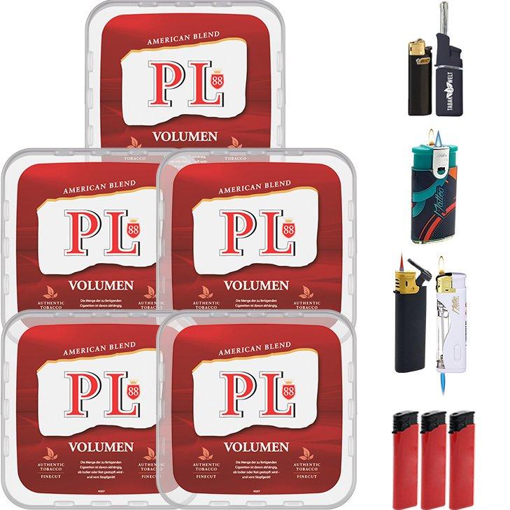 PL88 Red 5 x 400g mit Feuerzeugen