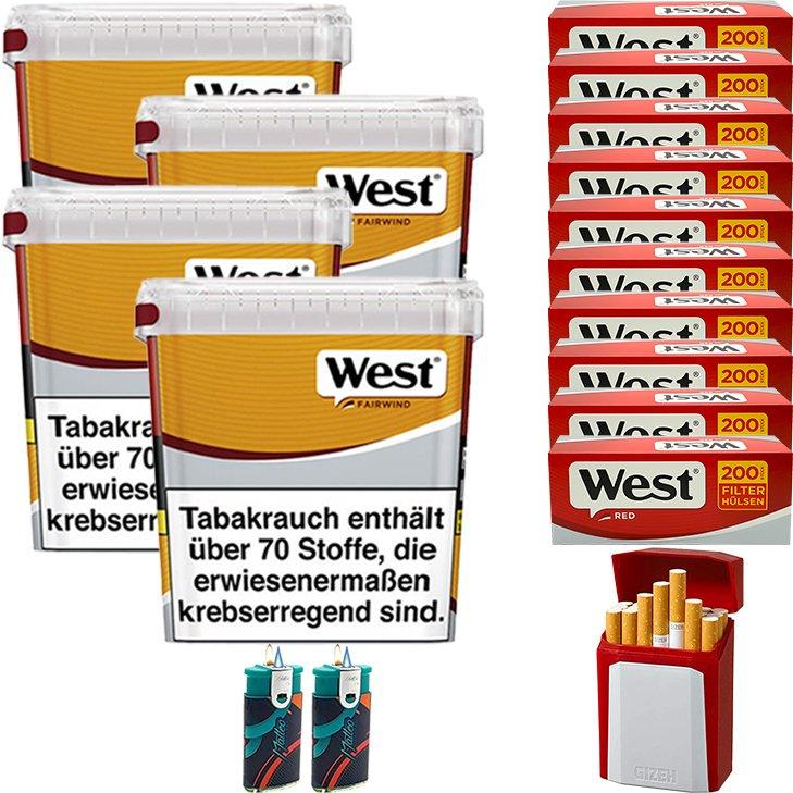 West Yellow Fairwind 4 x 280g mit 2000 King Size Hülsen
