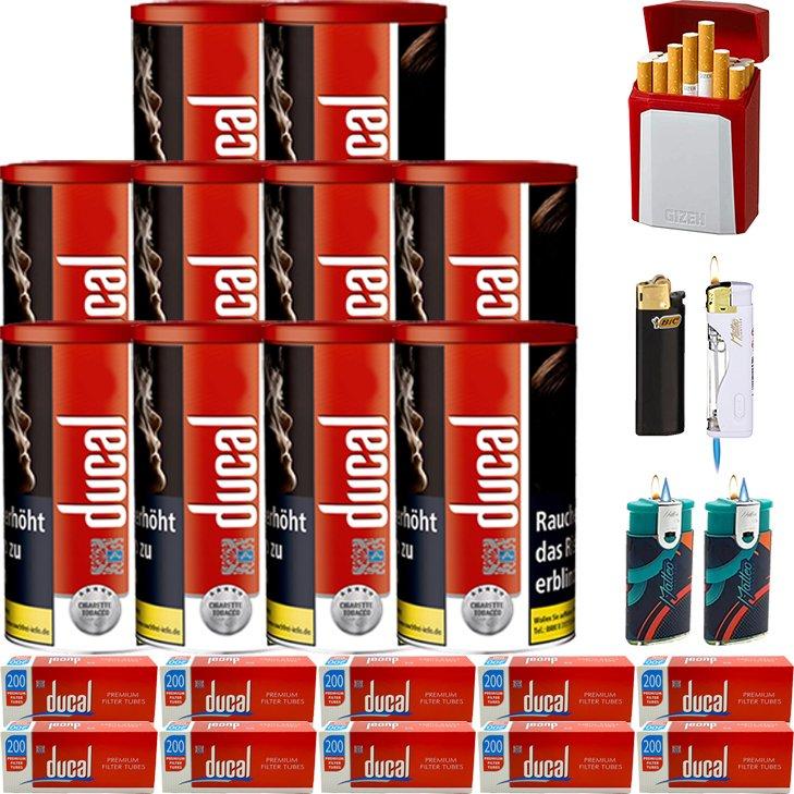 Ducal Red 10 x 200g mit 2000 King Size Filterhülsen