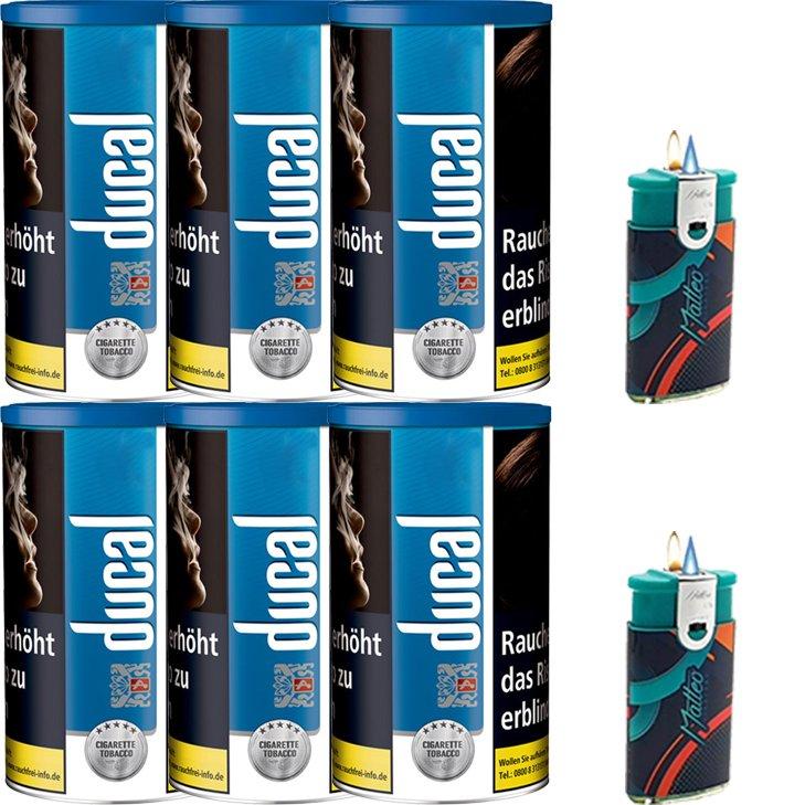 Ducal blue 6 x 200g mit Feuerzeugen
