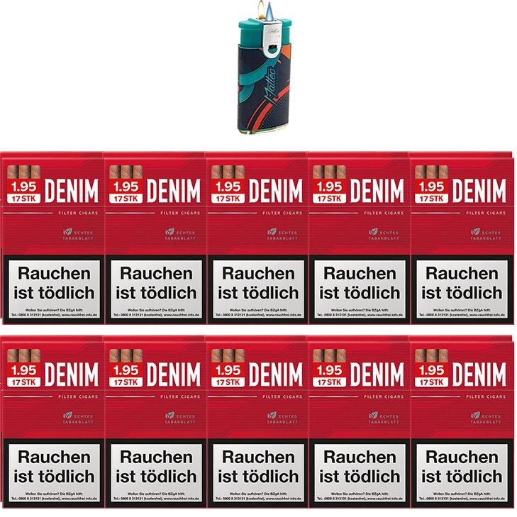 Denim Red Zigarillos mit Filter (2 Stangen) 20 x 17 Stück