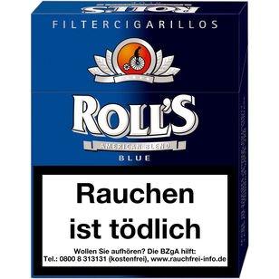 Rolls Blue Naturdeckblatt Zigarillos mit Filter (5 Stangen) 40 x 23 Stück
