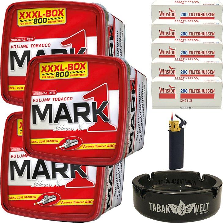 Mark 1 - 3 x 400g mit 1000 King Size Hülsen