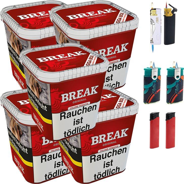 Break Original 5 x 230g mit Feuerzeugen