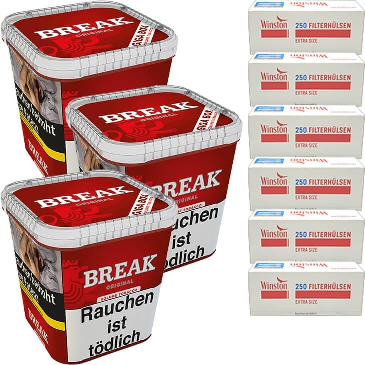 Break Original 3 x 230g mit 1500 Extra Size Hülsen