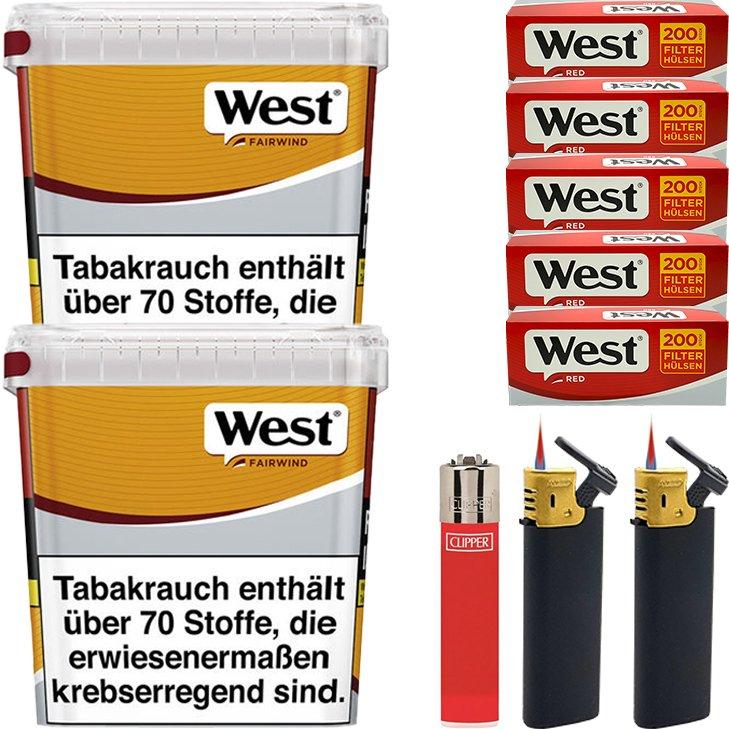 West Yellow Fairwind 2 x 310g mit 1000 King Size Hülsen