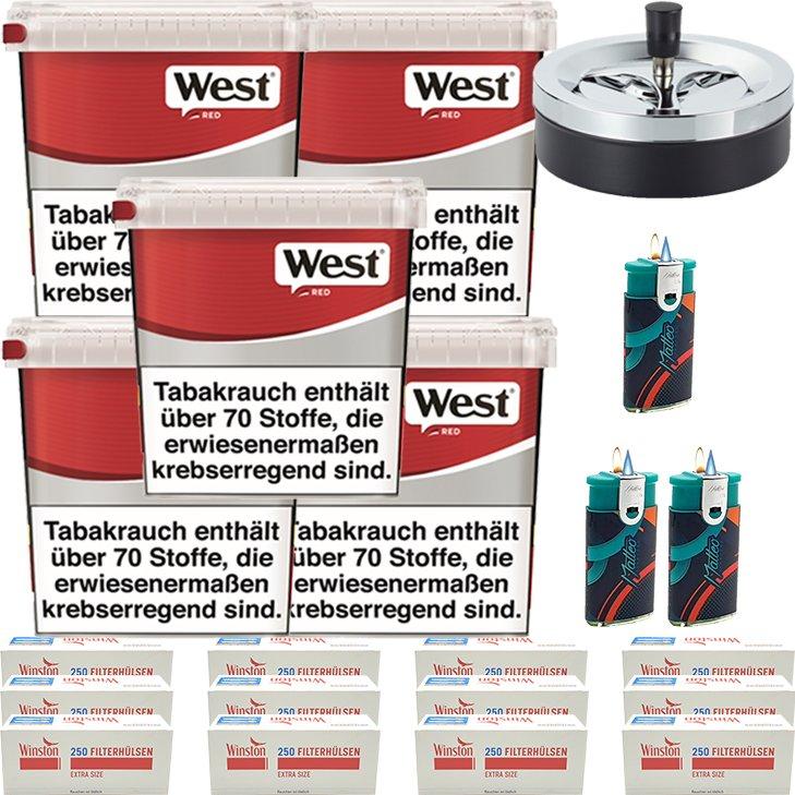 West Red 5 x 260g mit 3000 Extra Size Hülsen