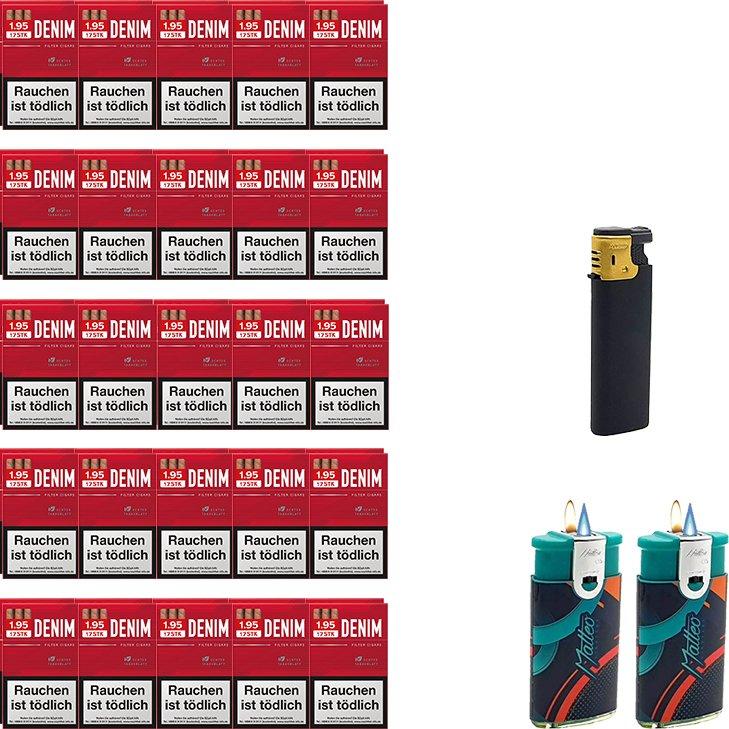 Denim Red Zigarillos mit Filter (5 Stangen) 50 x 17 Stück