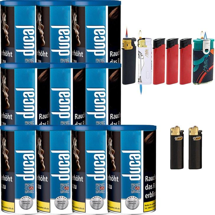 Ducal Blue 10 x 200g mit Feuerzeugen