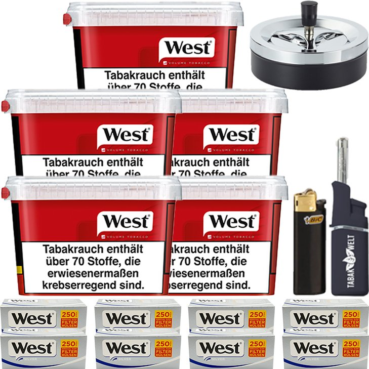 West Red 5 x 155g mit 2000 Siver Special Size Hülsen