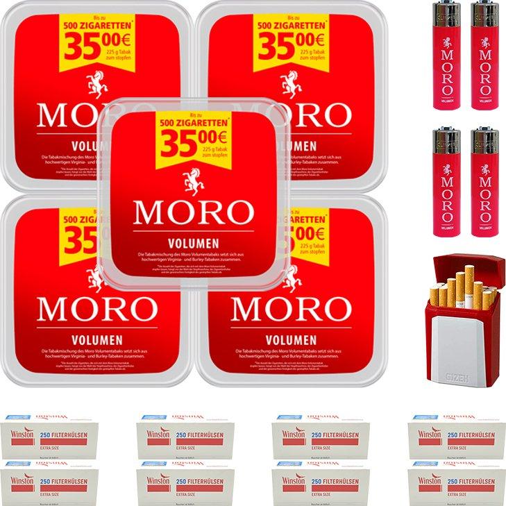 Moro Volumen 5 x 225g mit 2000 Special Size Hülsen