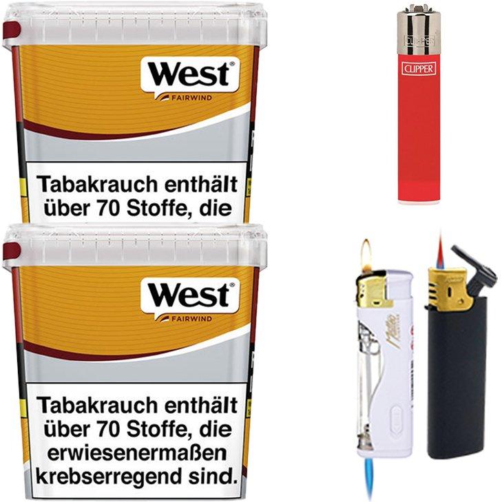 West Yellow Fairwind 2 x 310g mit Feuerzeugen