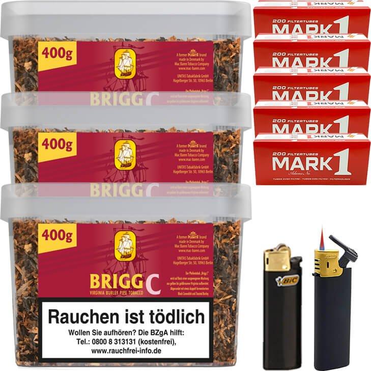 Brigg Cherry 3 x 400g mit 1000 King Size Hülsen